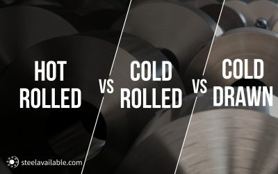 Hot Rolled Steel, Cold Rolled Steel & Cold Drawn Steel